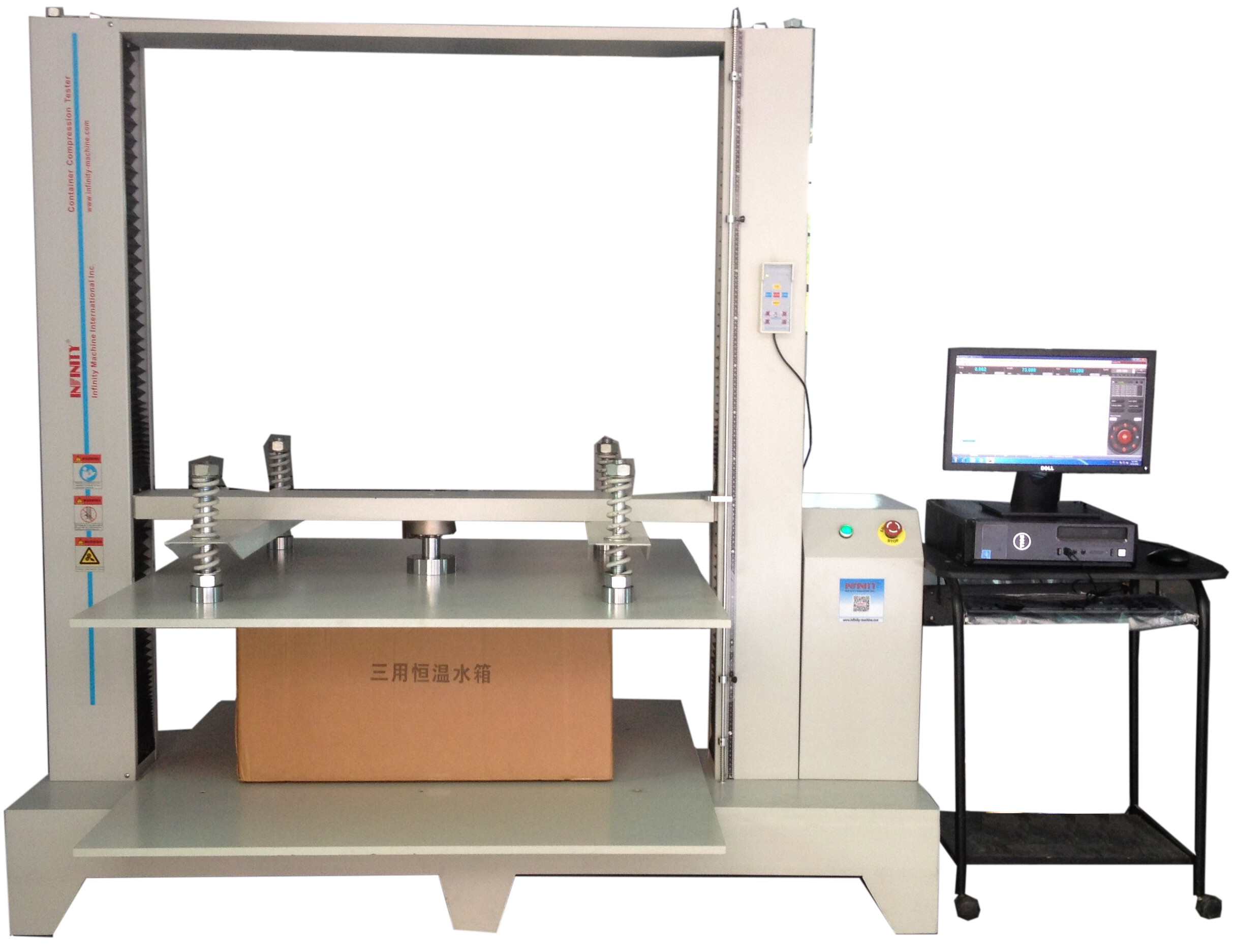 Honeycomb Box Package Testing Equipment Servo Control Compression Tester for Paper Box